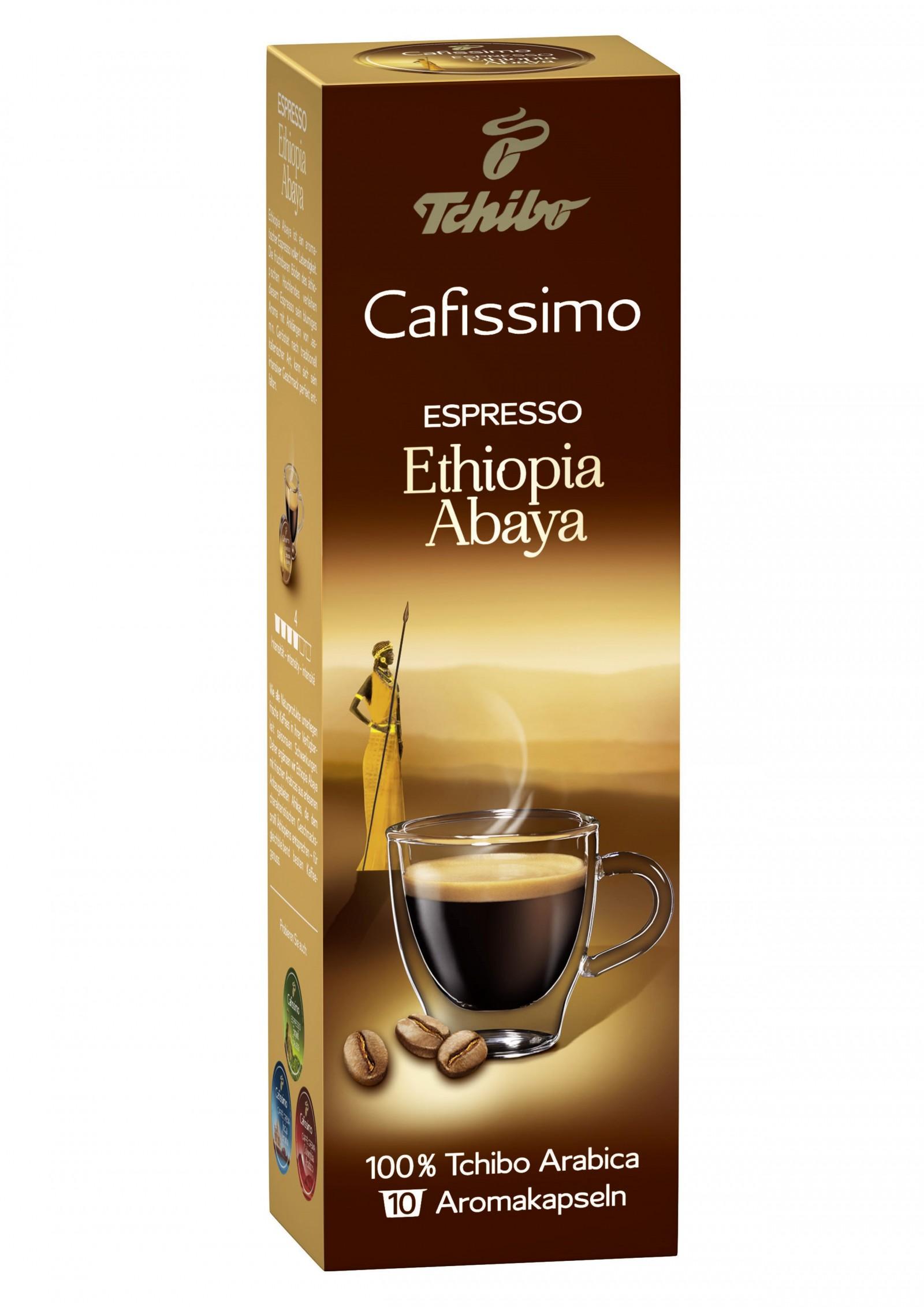 Tchibo Cafissimo Espresso Ethiopia Abaya 100% Arabica