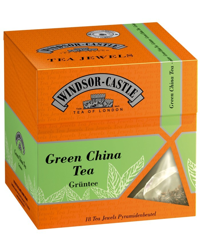 Windsor-Castle Tea Green China 18buc
